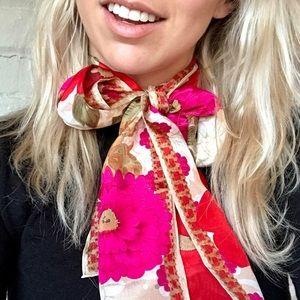 vintage liz claiborne silk scarf